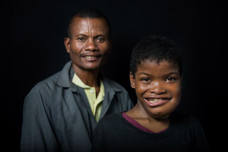 Jocelin med pappa