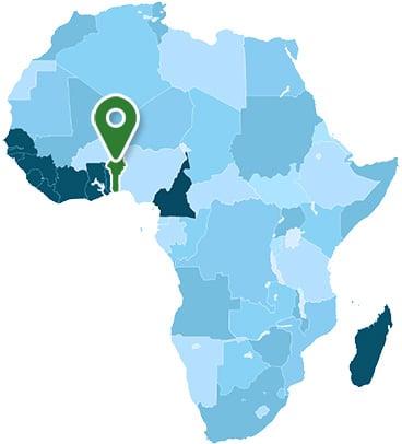 Benin Africa Map