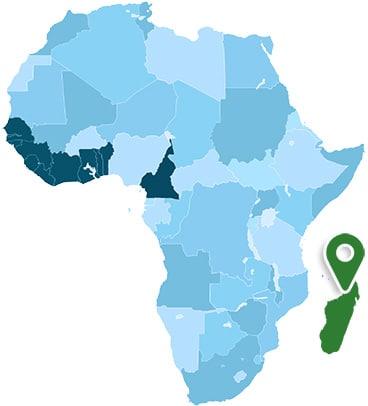 Madagascar Africa Map
