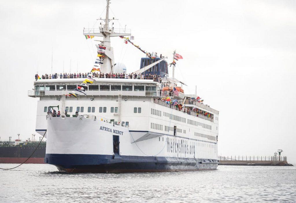 Bericht der Ankunft am Hafen in Senegal